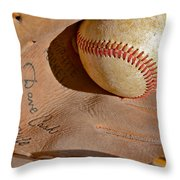 Dave Cash Mitt Throw Pillow by Bill Owen