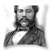 David Kalakaua (1836-1891) Throw Pillow