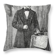 David Livingston, Scottish Missionary Throw Pillow by Science Source