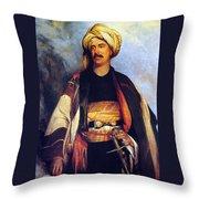 David Roberts In Arabian Dress Throw Pillow