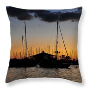 Davis Island Yacht Club Throw Pillow