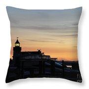 Dawn At Saybrook Dock Throw Pillow