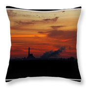 Dawn At The Power Plant Throw Pillow