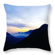 Dawn In The Foothills Of The Cascades  Throw Pillow