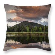 Dawn On The Snake River Throw Pillow