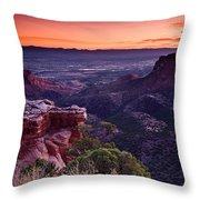 Dawn Over Fruita Throw Pillow