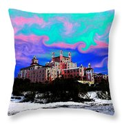 Day At The Don Throw Pillow