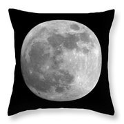 Day Before The Full Moon Throw Pillow