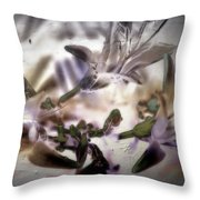 Day Lilies - Abstract Throw Pillow