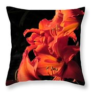 Day Lily Flame Throw Pillow
