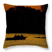 Day Of Fishing Is Over Throw Pillow