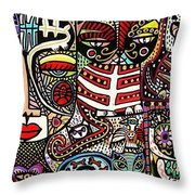 Day Of The Dead Cats Throw Pillow