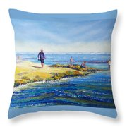 Day Out At Coloundra Beach Queensland2 Throw Pillow