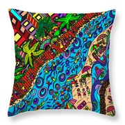 Day Out On Holidays Throw Pillow