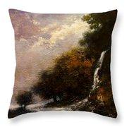 Daybreak Falls Throw Pillow