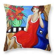 Daydreaming Throw Pillow