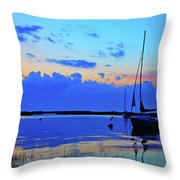 Day's End Rock Harbor Throw Pillow
