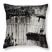 Days Gone By Bw Throw Pillow