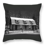 Days Of Yore Log Cabin Throw Pillow