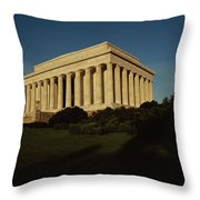 Daytime View Of The Lincoln Memorial Throw Pillow