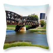 Dayton Ohio Throw Pillow