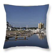 Daytona Boat Launch Throw Pillow