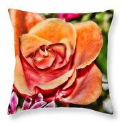 Dazzling Rose Throw Pillow