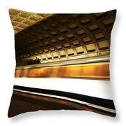 Dc Metro Throw Pillow by Heather Applegate
