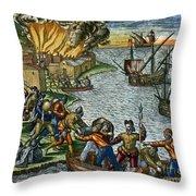 De Bry: Chicora, 1590 Throw Pillow