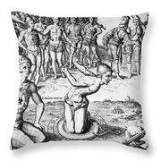 De Bry: Magician, 1591 Throw Pillow