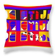 De Stijl Throw Pillow