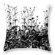 De Vries Experimental Garden Throw Pillow