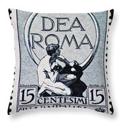 Dea Roma Throw Pillow