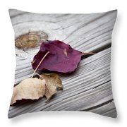 Dead Leaves Throw Pillow