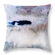 Dead Sea From Space Throw Pillow by NASA / Science Source