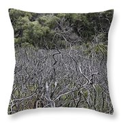 Dead Tree Garden Throw Pillow