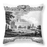 Deaf And Dumb Asylum, 1835 Throw Pillow