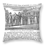 Deaf And Dumb School, 1842 Throw Pillow by Granger