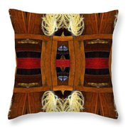Death - Card Xi From The Tarot Of Flowers Throw Pillow