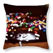 Death By Doughnut Throw Pillow