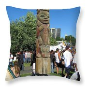 Death Of A Wood Carver Throw Pillow