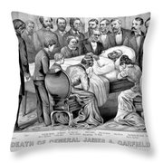 Death Of Garfield, 1881 Throw Pillow