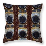 Death Row Cell Buttons Throw Pillow