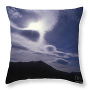 Death Valley Clouds Throw Pillow