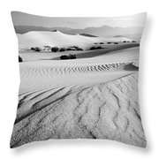 Death Valley Dunes 11 Throw Pillow by Bob Christopher