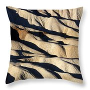 Death Valley Erosion Throw Pillow