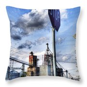 Decatur Alabama Industrial District Throw Pillow