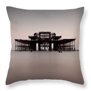Decaying Pier Throw Pillow
