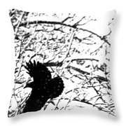 December Raven Throw Pillow