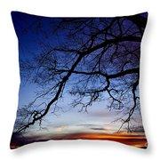 December White Oak Sunrise Throw Pillow